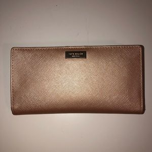 Kate Spade Shimmer Wallet Pink with Card slots